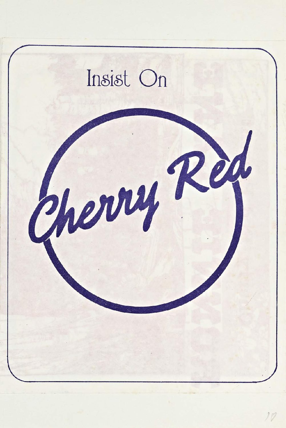 Cherry Red 'fanzine', including advert for Ronnie Lane at Malvern Winter Gardens, 14 June 1975