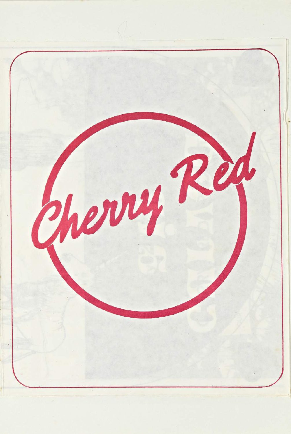 Cherry Red 'fanzine', including advert for Curved Air at Malvern Winter Gardens, 27 March 1975