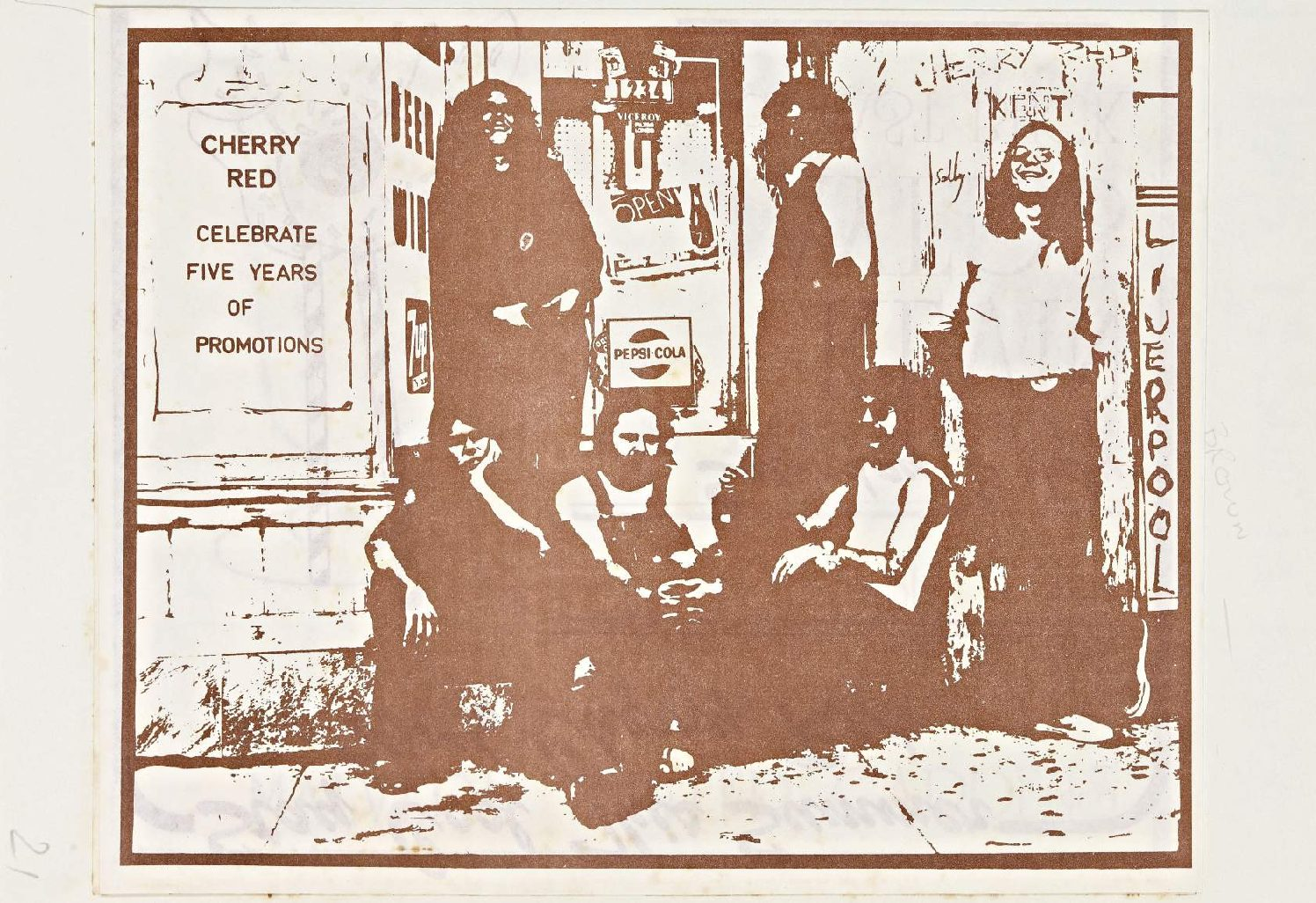 Cherry Red 'fanzine', including advert for Kevin Ayers and Heavy Metal Kids at Malvern Winter Gardens, July 1976