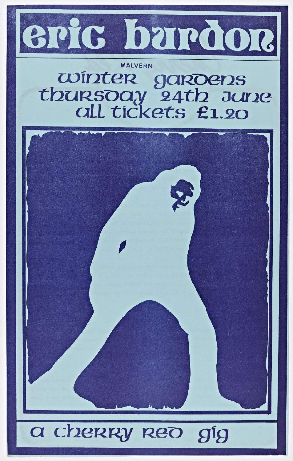 Cherry Red 'fanzine', including advert for Eric Burdon at Malvern Winter Gardens, 24 June 1976