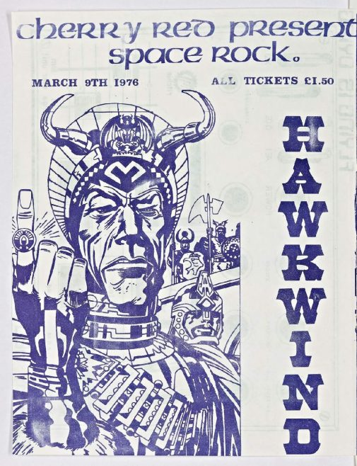 Cherry Red 'fanzine', including adverts for Hawkwind and Man at Malvern Winter Gardens, March 1976