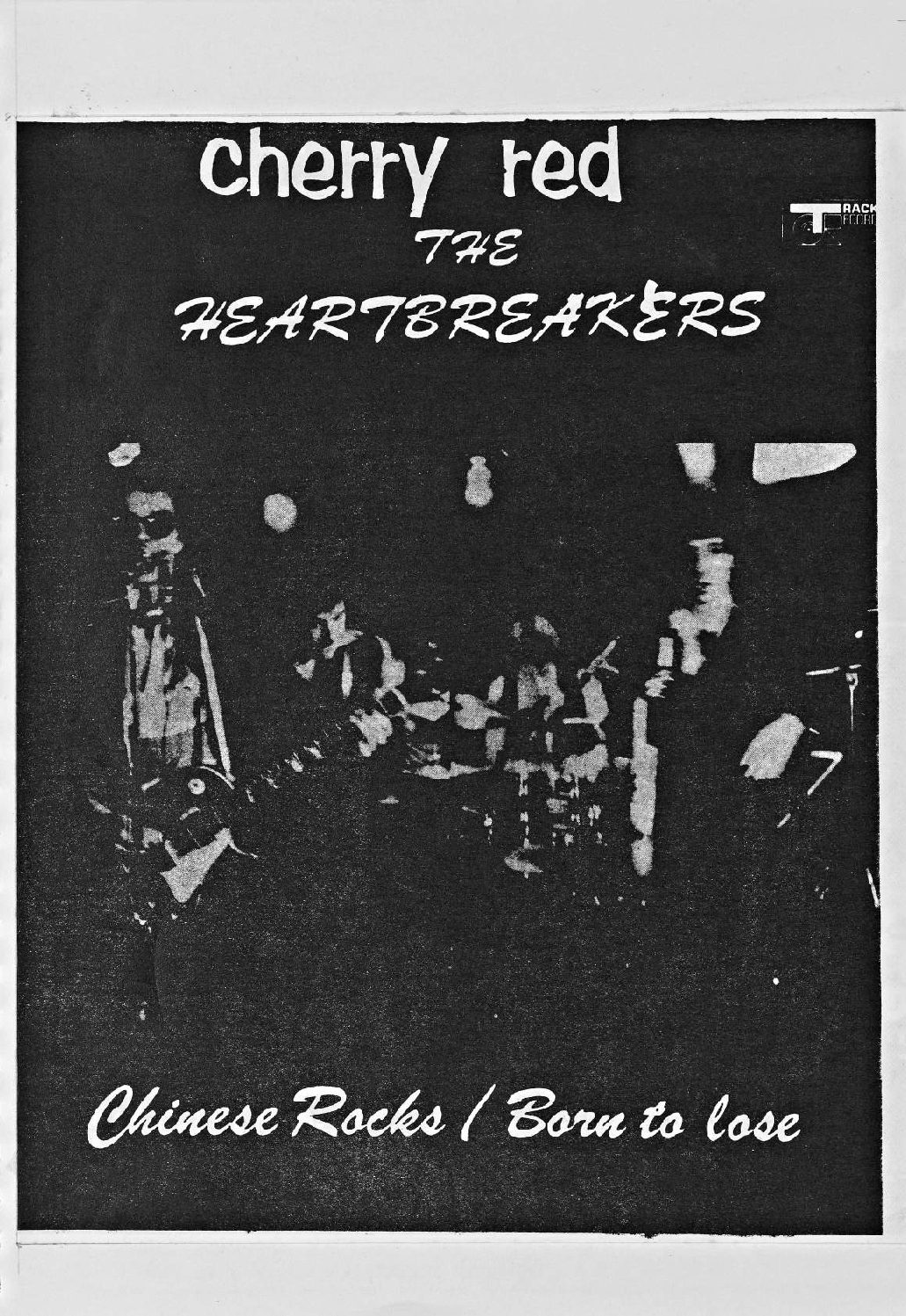Cherry Red 'fanzine', including advert for Johnny Thunders and the Heartbreakers (cancelled) at Malvern Winter Gardens, 23 July 1977