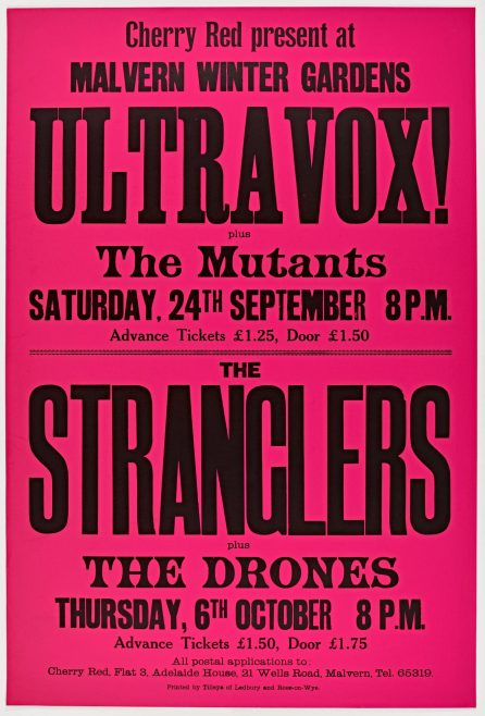 Poster for Ultravox and The Stranglers at Malvern Winter Gardens, 1977