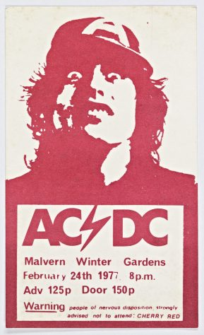 Ticket for AC/DC at Malvern Winter Gardens, 24 February 1977