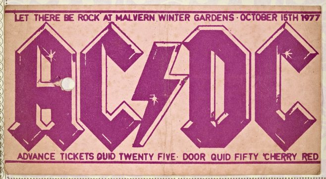 Ticket for AC/DC at Malvern Winter Gardens | Cherry Red Promotions