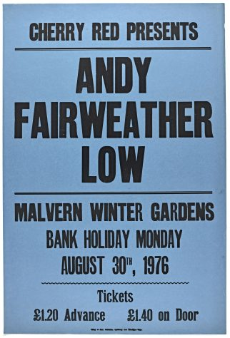 Poster for Andy Fairweather Low at Malvern Winter Gardens, 30 August 1976