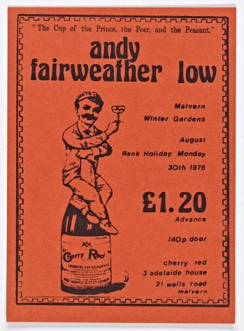 Ticket for Andy Fairweather Low at Malvern Winter Gardens, 30 August 1976