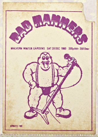 Ticket for Bad Manners at Malvern Winter Gardens, 20 December 1980