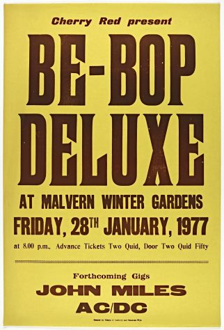 Poster for Be Bop Deluxe at Malvern Winter Gardens, 28 January 1977