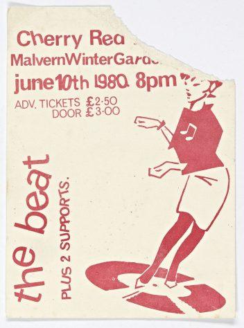 Ticket for The Beat at Malvern Winter Gardens, 10 June 1980