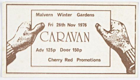 Ticket for Caravan at Malvern Winter Gardens, 26 November 1976