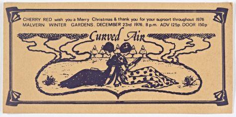 Ticket for Curved Air at Malvern Winter Gardens, 23 December 1976
