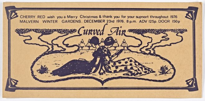 Ticket for Curved Air at Malvern Winter Gardens | Cherry Red Promotions