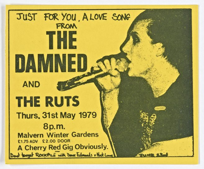 Ticket for The Damned at Malvern Winter Gardens | Cherry Red Promotions