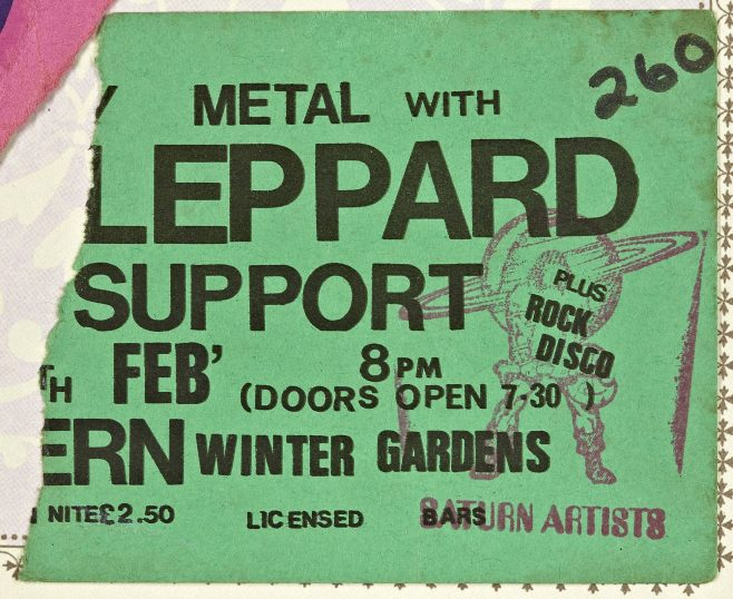 Ticket for Def Leppard at Malvern Winter Gardens | Cherry Red Promotions