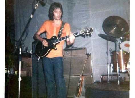Photograph (1) of Eric Clapton of Derek and the Dominoes at Malvern Winter Gardens, 14 August 1970