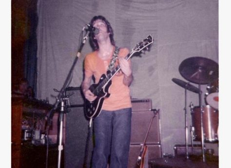 Photograph (2) of Eric Clapton of Derek and the Dominoes at Malvern Winter Gardens, 14 August 1970