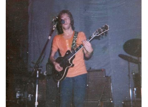 Photograph (3) of Eric Clapton of Derek and the Dominoes at Malvern Winter Gardens, 14 August 1970