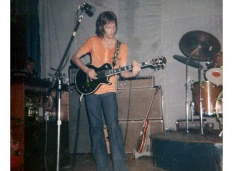 Photograph (4) of Eric Clapton of Derek and the Dominoes at Malvern Winter Gardens, 14 August 197008/1970