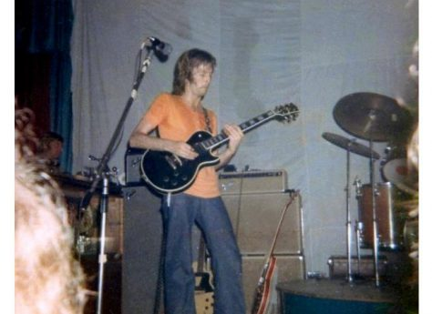 Photograph (5) of Eric Clapton of Derek and the Dominoes at Malvern Winter Gardens, 14 August 1970
