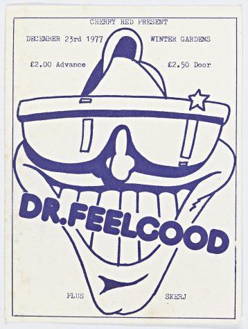 Ticket for Dr Feelgood at Malvern Winter Gardens, 23 December 1977