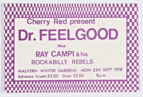 Dr Feelgood, Ray Campi & his Rockabilly Rebels, 25 September 1978