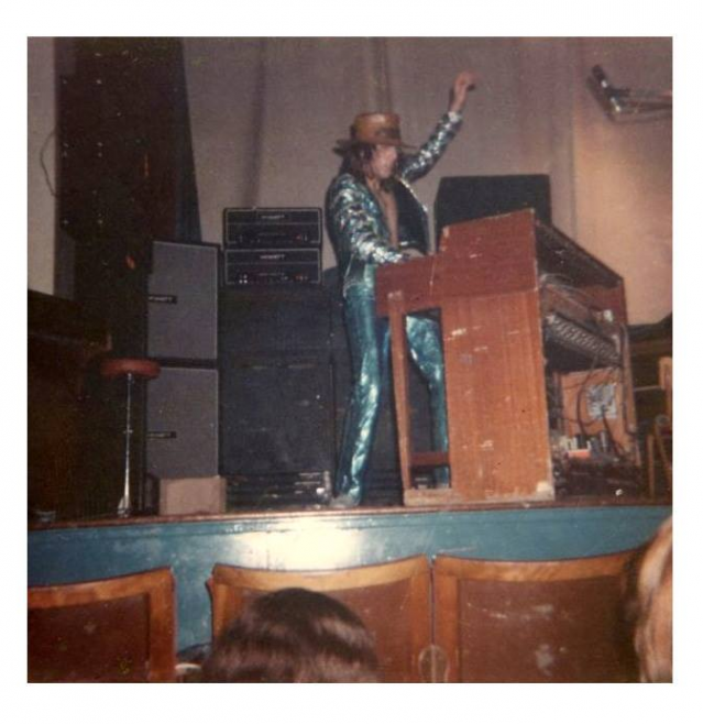 Keith Emerson of Emerson, Lake and Palmer, playing at Malvern Winter Gardens, 19 September 1970