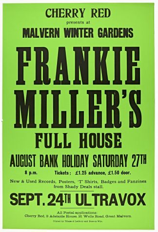 Frankie Miller's Full House, 27 August 1977