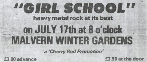 Girlschool, 17 July 1981