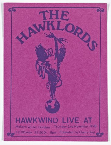 Ticket for The Hawklords at Malvern Winter Gardens, 2 November 1978