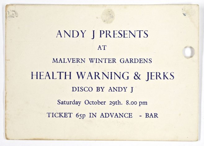 Ticket for Health Warning at Malvern Winter Gardens | Andy Jolly