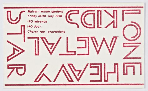 Ticket for The Heavy Metal Kids at Malvern Winter Gardens, 30 July 1976