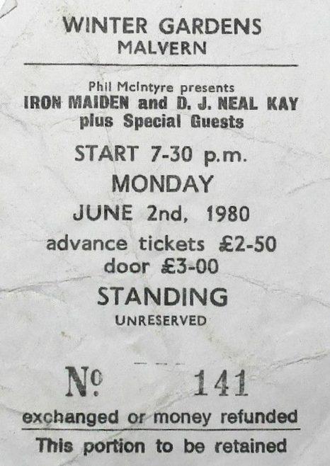 Ticket for Iron Maiden at Malvern Winter Gardens | Phil McIntyre