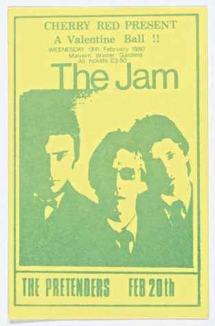 Ticket for The Jam at Malvern Winter Gardens, 13 February 1980
