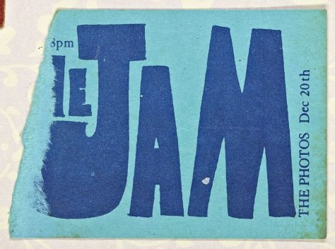 Ticket for The Jam at Malvern Winter Gardens, 10 December 1980