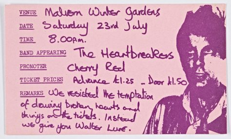 Johnny Thunders and the Heartbreakers, 23 July 1977 (cancelled)