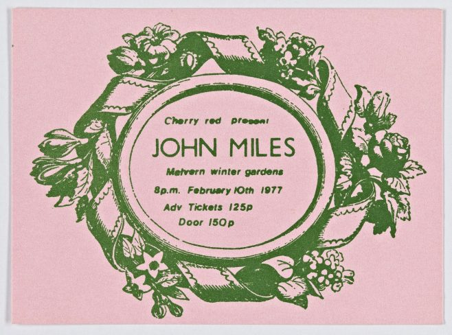 Ticket for John Miles at Malvern Winter Gardens | Cherry Red Promotions