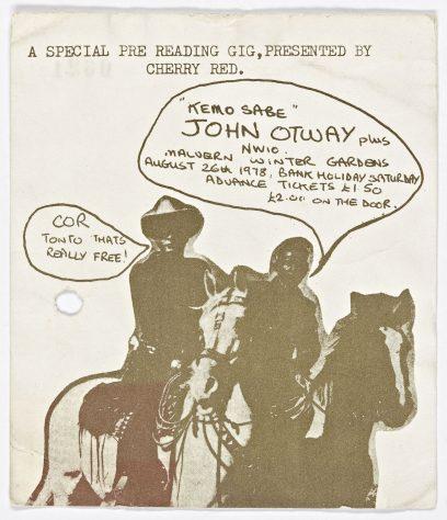 Ticket for John Otway  at Malvern Winter Gardens, 26 August 1978