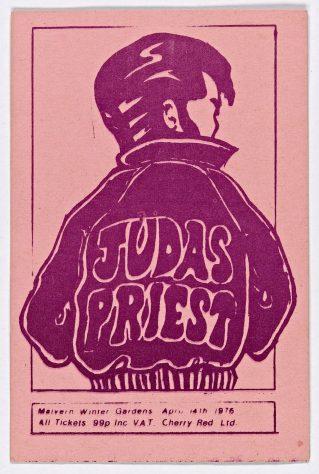 Ticket for Judas Priest at Malvern Winter Gardens, 14 April 1976