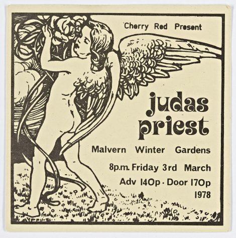 Ticket for Judas Priest at Malvern Winter Gardens, 3 March 1978