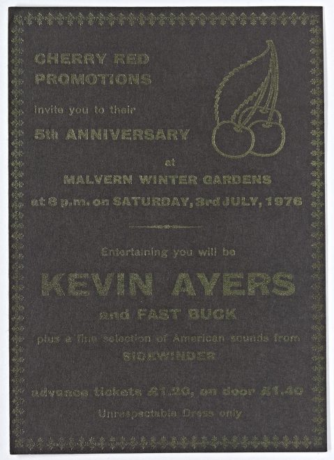 Ticket for Kevin Ayers at Malvern Winter Gardens | Cherry Red Promotions