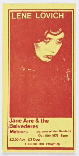 Ticket for Lene Lovich at Malvern Winter Gardens, 15 October 1979