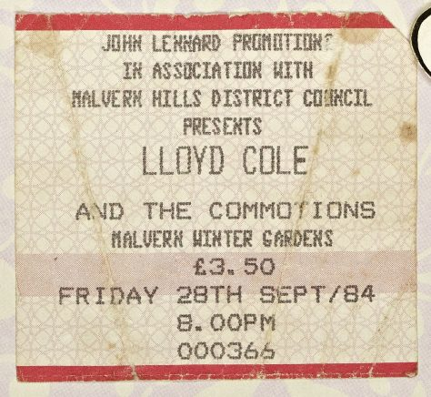 Lloyd Cole and the Commotions, The Blow Monkeys, 28 September 1984