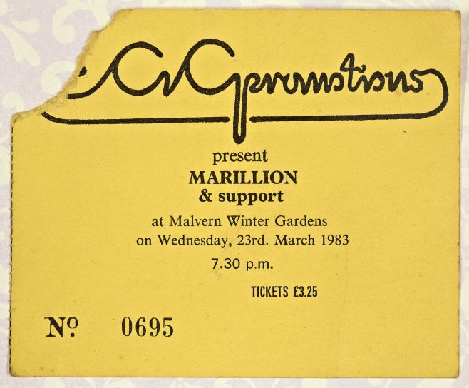 Ticket for Marillion at Malvern Winter Gardens | ECG Promotions