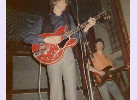 Justin Hayward and John Lodge of The Moody Blues, at Malvern Winter Gardens, 1 July 1969