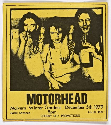 Ticket for Motorhead at Malvern Winter Gardens, 5 December 1979