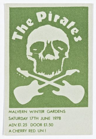 Ticket for The Pirates at Malvern Winter Gardens, 17 June 1978