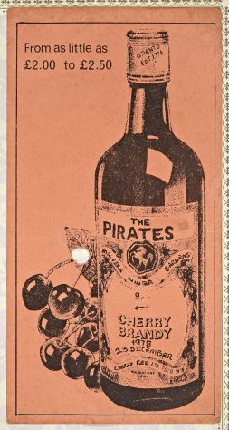 Ticket for The Pirates at Malvern Winter Gardens, 23 December 1978