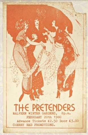 Ticket for The Pretenders at Malvern Winter Gardens, 20 February 1980