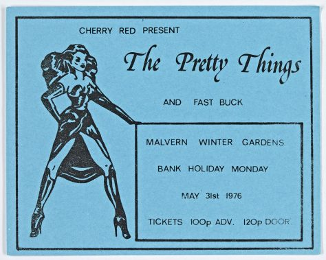 Ticket for The Pretty Things at Malvern Winter Gardens, 31 May 1976